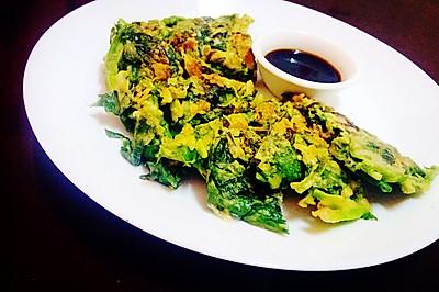 【香煎菠菜饼】一人饭菜