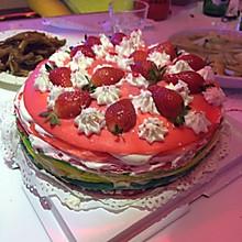 彩虹千层蛋糕
