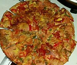 肉松火腿披萨(电饼铛版)的做法