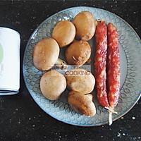 香菇腊肠焖饭的做法图解1