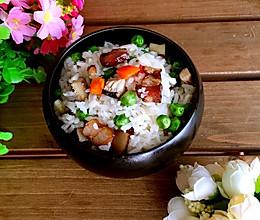 豌豆腊肉焖饭#寻人启事#的做法