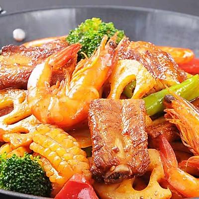 麻辣香锅---香烤猪排大虾
