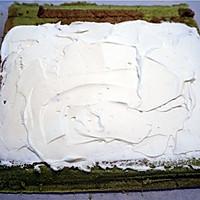 绿茶彩绘蛋糕卷#九阳烘焙剧场#的做法图解20