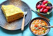疙瘩汤·蔬菜饼(周末早餐)#一机多能 一席饪选#的做法