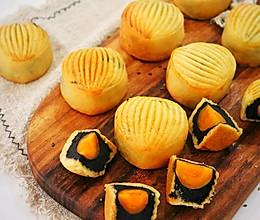 黑芝麻蛋黄月饼❗自制黑芝麻馅的做法