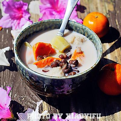 秋季甜蜜滋补甜汤~红豆芋头甜薯汤