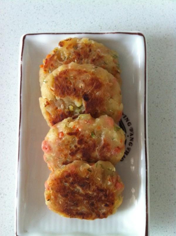 土豆泥火腿饼的做法