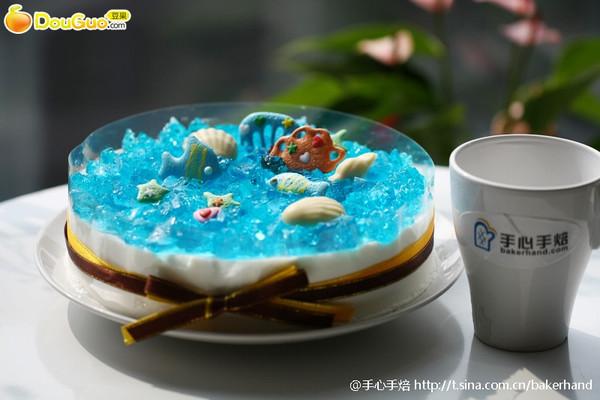 蓝色海洋酸奶慕斯蛋糕的做法