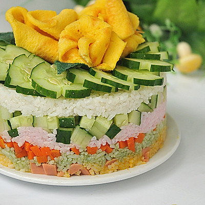 米饭生日蛋糕