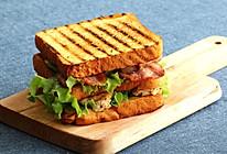 [汉堡实验室]鸡胸培根三明治的做法