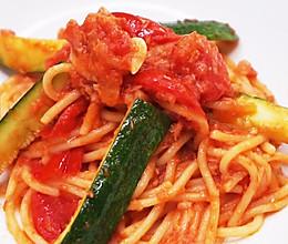 金枪鱼蔬菜意面-开胃可口降血脂的做法