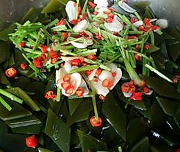 小米椒腌海带的做法