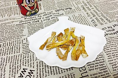 椒盐脆条(多余的馄饨皮)