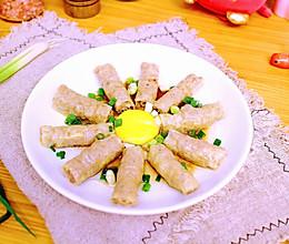 #憋在家里吃什么# 油豆腐皮蒸肉的做法
