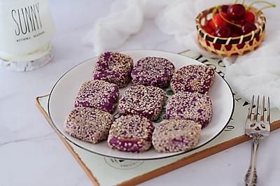 奶香紫薯饼