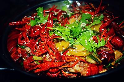 干锅香辣小龙虾
