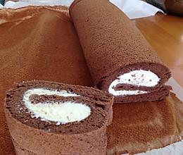 不断裂巧克力奶油蛋糕卷的做法