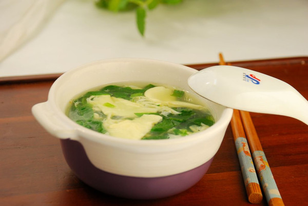 菠菜鸡蛋汤的做法