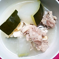 薏米百合猪尾冬瓜汤的做法图解3