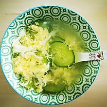 刮油解腻-黄瓜鸡蛋汤