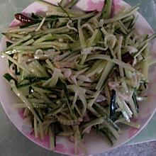 凉拌金针菇黄瓜