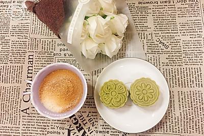 低卡桃山皮月饼(抹茶蜜豆&抹茶蔓越莓)