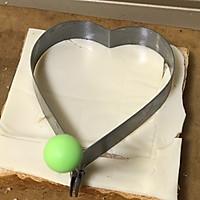 水波蛋爱心吐司片的做法图解3