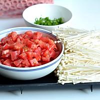 番茄金针菇肥牛汤的做法图解2