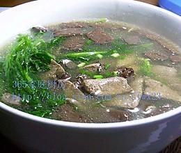 猪肝猪血菠菜汤的做法