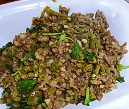 罗勒肉末豇豆的做法