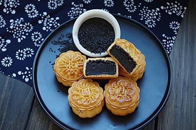 浓香黑芝麻月饼