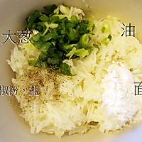 土豆煎饼配烟熏三文鱼水煮嫩蛋#周末早餐#的做法图解2