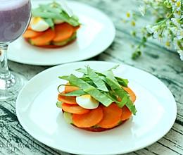 番茄鸡蛋沙拉&紫薯奶昔#博世红钻家厨#的做法