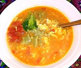 小油菜汁疙瘩汤的做法