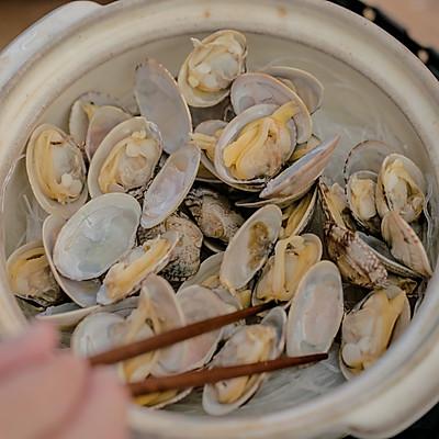蛤蜊粉丝煲的做法 步骤10
