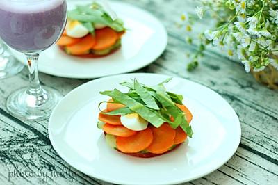 番茄鸡蛋沙拉&紫薯奶昔#博世红钻家厨#