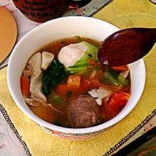 胡萝卜西红柿丸子汤