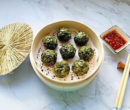 #《风味人间》美食复刻大挑战#玉米面菠菜菜团的做法