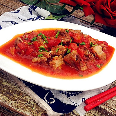 酸甜西红柿焖排骨