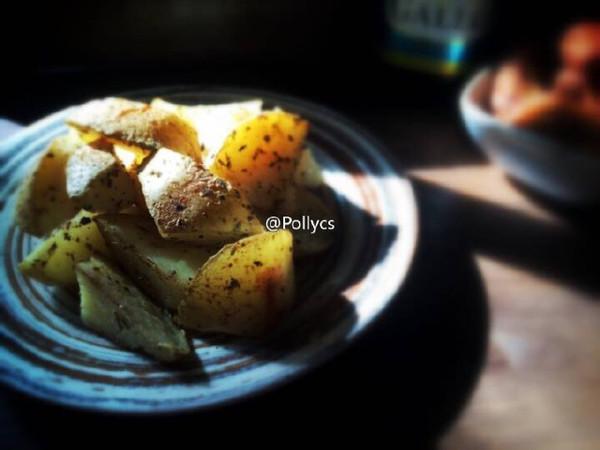 橄露Gallo经典特级初榨橄榄油试用之【烤薯角】的做法