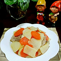 白地瓜炒肉片