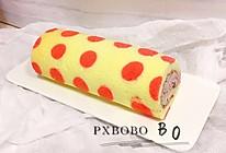 #餐桌上的春日限定#花漾波点桑葚果酱奶油蛋糕卷的做法
