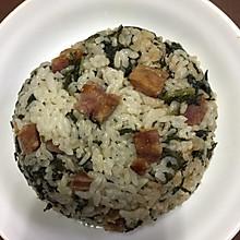 莴笋叶香肠菜饭