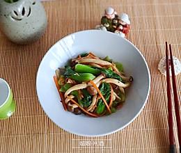 快手的蟹味菇炒小油菜的做法