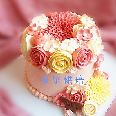如何做一款好吃不油腻的韩式裱花蛋糕