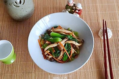 快手的蟹味菇炒小油菜