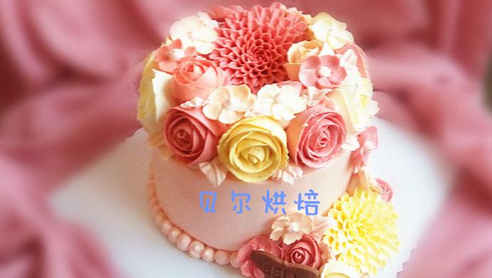 #九阳烘焙剧场#如何做一款好吃不油腻的韩式裱花蛋糕