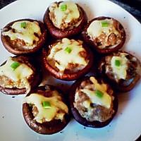 蒜香肉酿香菇焗奶酪