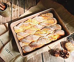 伯爵乳酪肉松全麦软欧(波兰酵头)营养早餐面包茶点的做法
