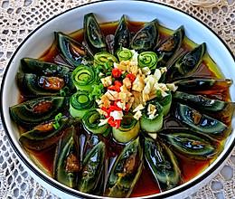#味达美名厨福气汁,新春添口福#开运年菜黄瓜拌皮蛋的做法